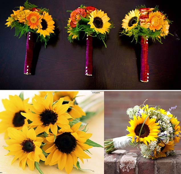 Beautiful Wedding Flowers: Inspiration Of Sunflowers As