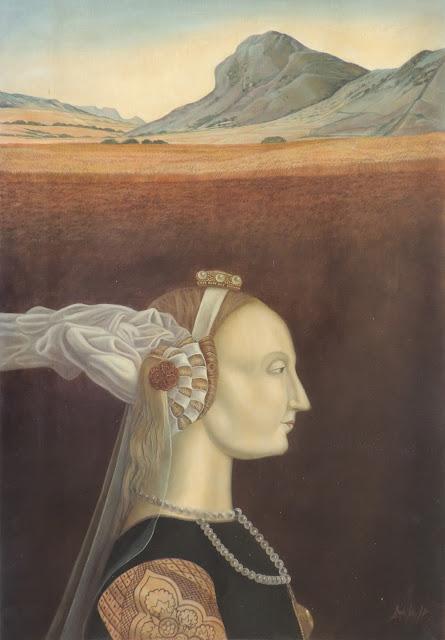 Gregorio Sabillón pintura cuadro surrealimo retrato