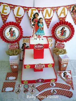 kit cumpleaños Elena de Avalor