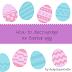Πώς να κάνεις ντεκουπάζ σε αυγά - How to decoupage an Easter egg