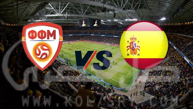 مشاهده مباراة اسبانيا ومقدونيا