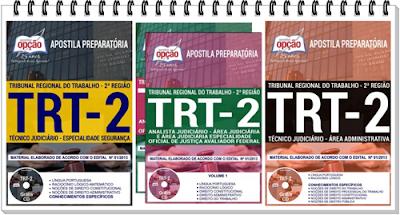 apostilas do concurso TRT-2 região - Técnico Judiciário especialidade Segurança