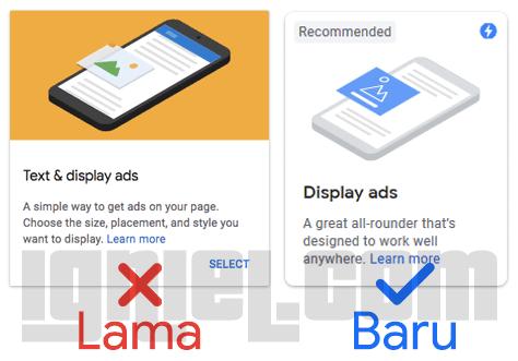 Perubahan Jenis Iklan Teks dan Link AdSense