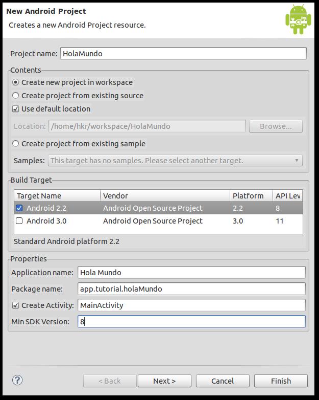 configuracion proyecto Android