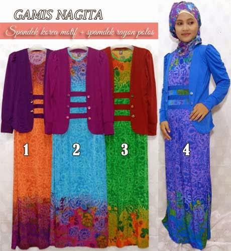 Baju Gamis Muslimah Cantik Modis Dan Trendy Untuk Ke Kantor