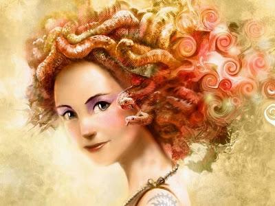 Ilustración de medusa - Monstruo mitologico