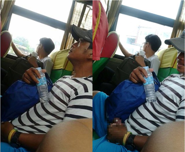 A Guy Caught In The Act Doing This Disgusting Deed Inside A Bus Goes Viral!