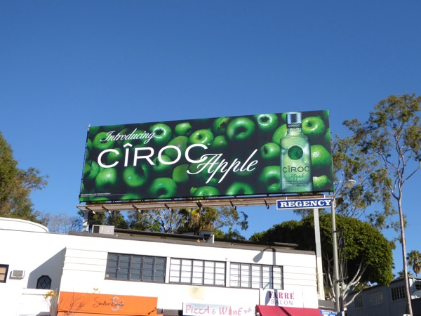 Ciroc Apple vodka billboard