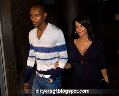 Éric Abidal and his wife
