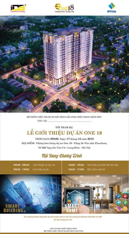 Mở bán chung cư One18 Long Biên