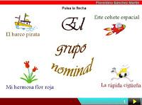 http://cplosangeles.juntaextremadura.net/web/edilim/curso_4/lengua/grupo_nominal/grupo_nominal.html