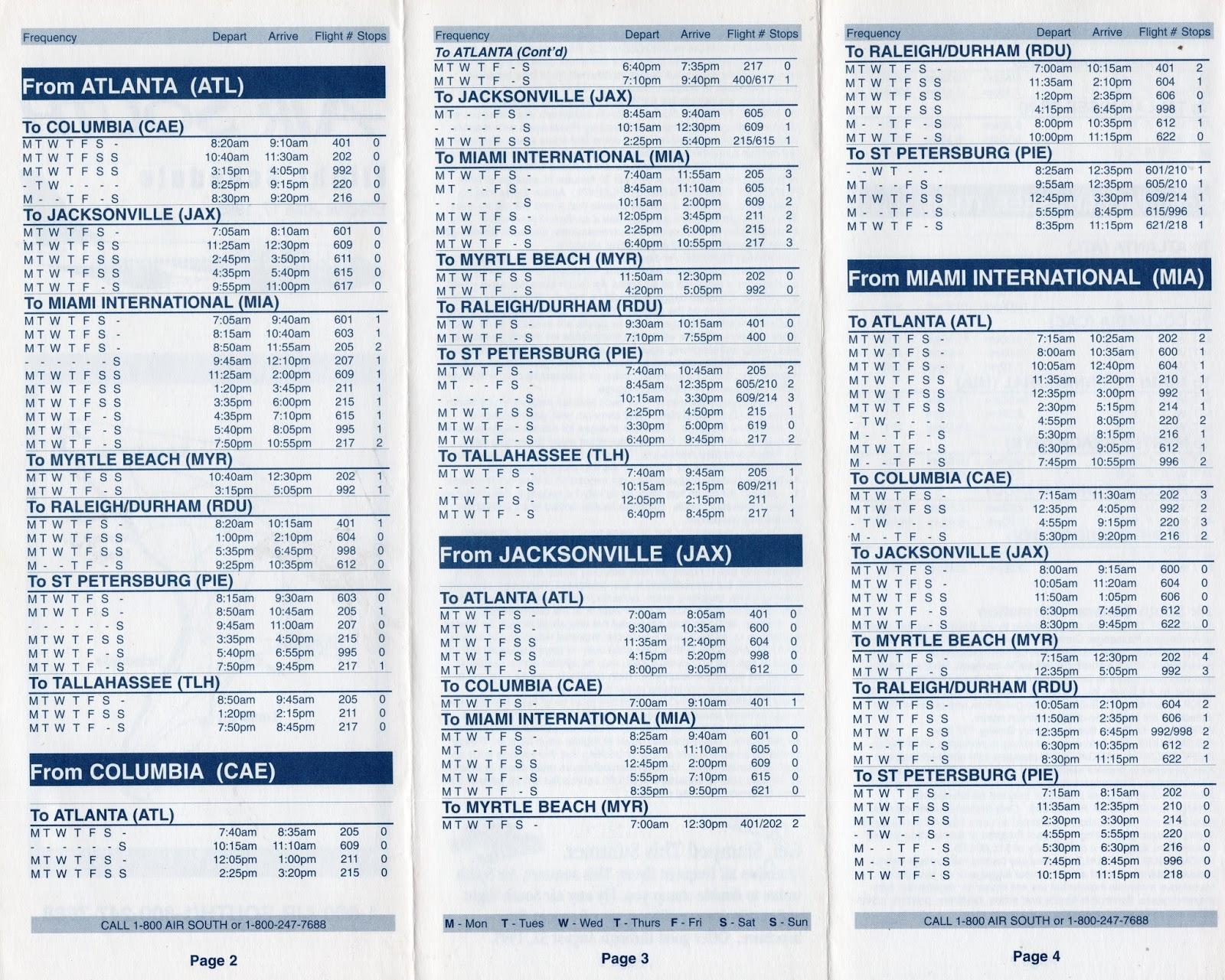 Airline Timetables September 2012
