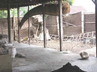 cetakan membuat patung gajah