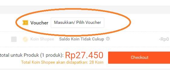 Kode voucher untuk pembayaran shopee