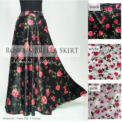 rok panjang motif bunga