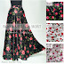 Rok Panjang Motif Bunga Rose Umbrella Satin Skirt 081372507000