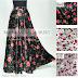 Rok Panjang Motif Bunga Rose Umbrella Skirt 081372507000