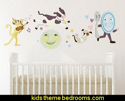 Nursery Rhyme Fabric Wall Decal