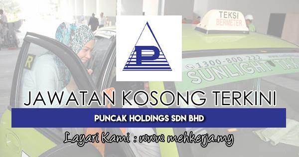Jawatan Kosong Terkini 2018 di Puncak Holdings Sdn Bhd