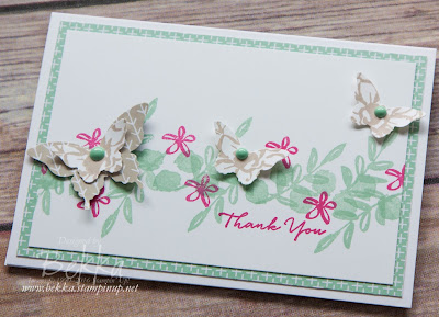 What I Love Leaves and Butterflies Thank You Card made with supplies from Stampin' Up! UK
