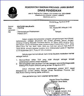Tempat Pelaksanaan Pretest PKB 2017 TUK Update Agustus 2017