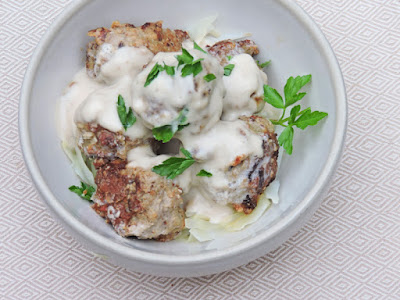 Pork Meatballs With Sour Cream Gravy Carb Wars Cookbooks