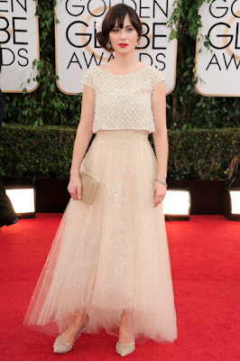 Zooey Deschanels Golden Globes 2014