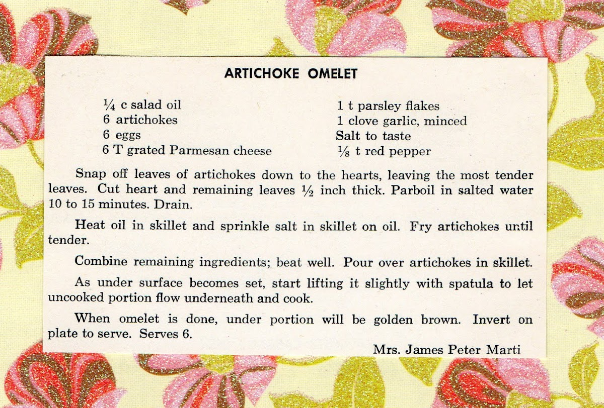 Artichoke Omelet (quick recipe)