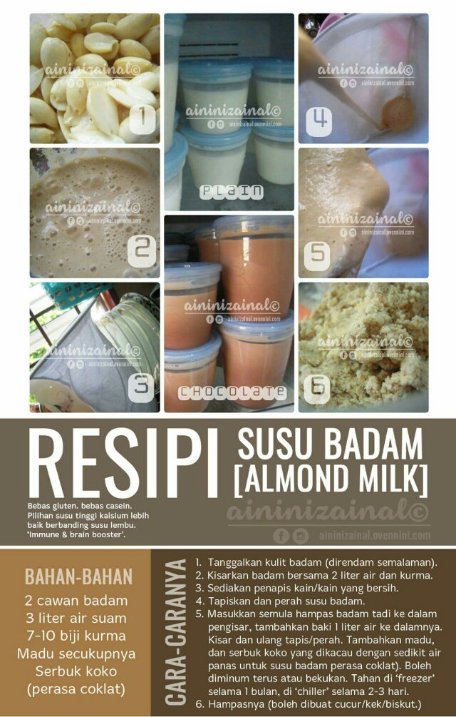 WW | RESEPI SUSU KURMA BADAM!