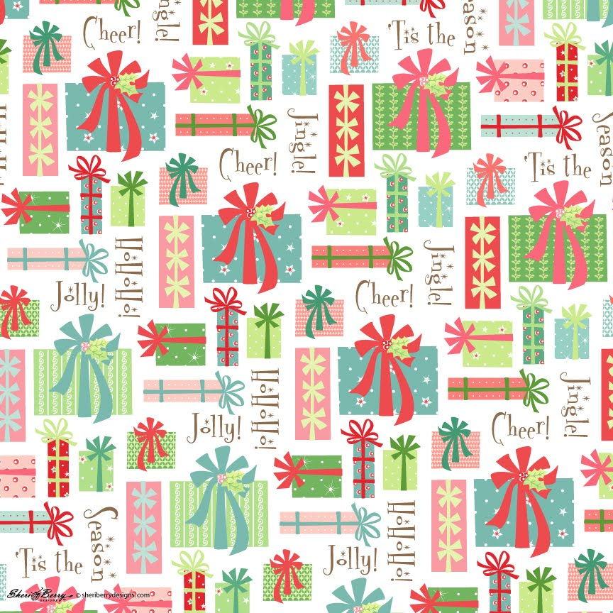 Christmas Gift Wrap Design.Sheri Mcculley Studio Gift Wrap For Christmas Is In Hiding