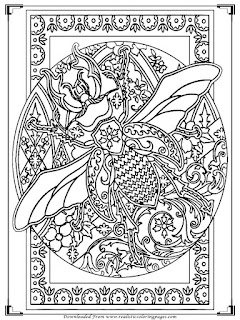 bee printable adults coloring pages free