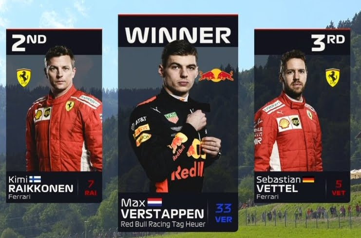 Verstappen vince in Austria davanti alle Ferrari di Kimi e Vettel | Motori Formula 1