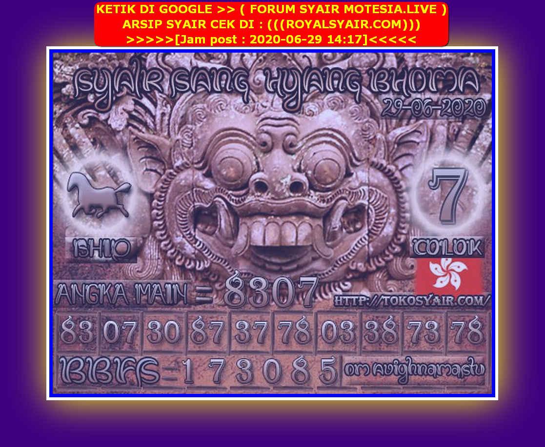 Kode syair Hongkong Senin 29 Juni 2020 188