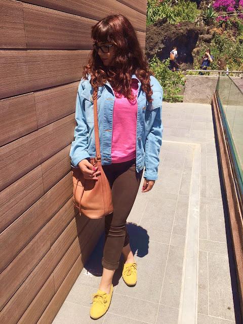 ootd mustard yellow fluo pink barbie giallo senape schiaparelli outfit fashion blog tumblr girl bang orange hair zairadurso fashion's obsessions instagram