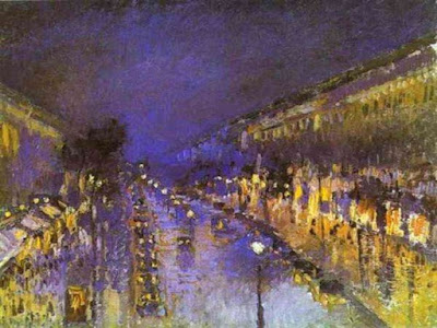 boulevard-montmarte-nuit-noche-camille-pissarro-impresionismo-national-gallery