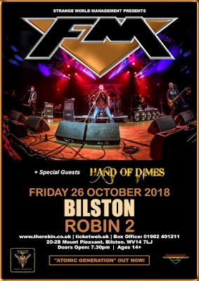 FM and Hand of Dimes at Bilston Robin 2 - 26 Oct 2018 - poster