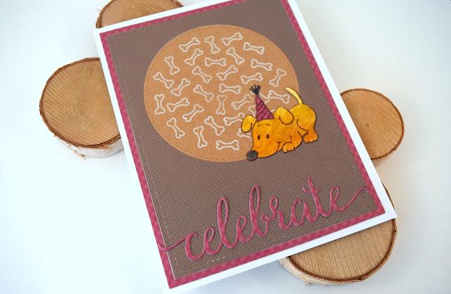 Dog Birthday Card by Jess Gerstner featuring Gerda Steiner Designs