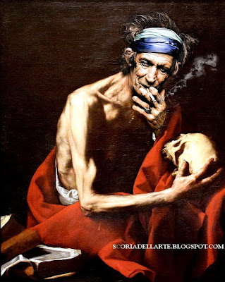 photomontage Keith Richards in famous painting-Fotomontaggi di rockstar in dipinti classici-Lo Spagnoletto
