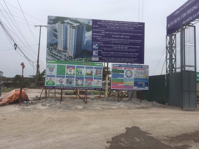 Cổng chính dự án Tứ Hiệp Plaza