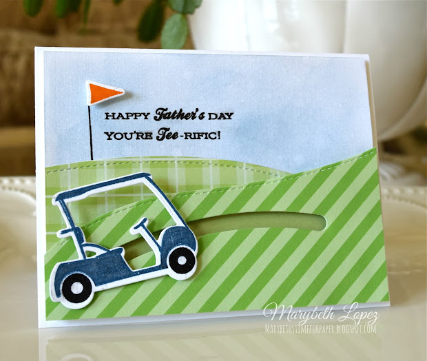 Marybeth Time Paper Sweet Pea And Sliding Golf Cart