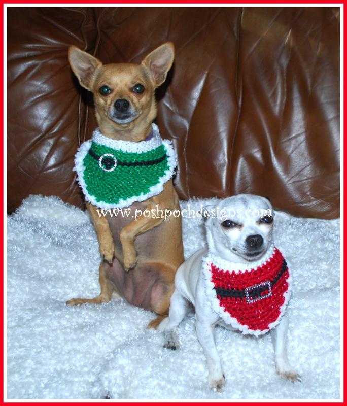 Posh Pooch Designs Dog Clothes Christmas Santa Dog Bandanna