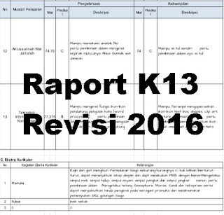 Raport K13 Revisi 2016