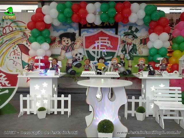 Tema Fluminense decoração provençal infantil para festa de aniversário