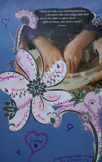 The Light of Support, Protection, Strength and Restoration- The Art Journal Journey Continues...