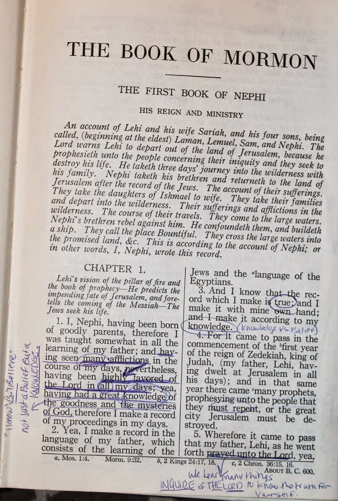 Image result for book of mormon book head notes
