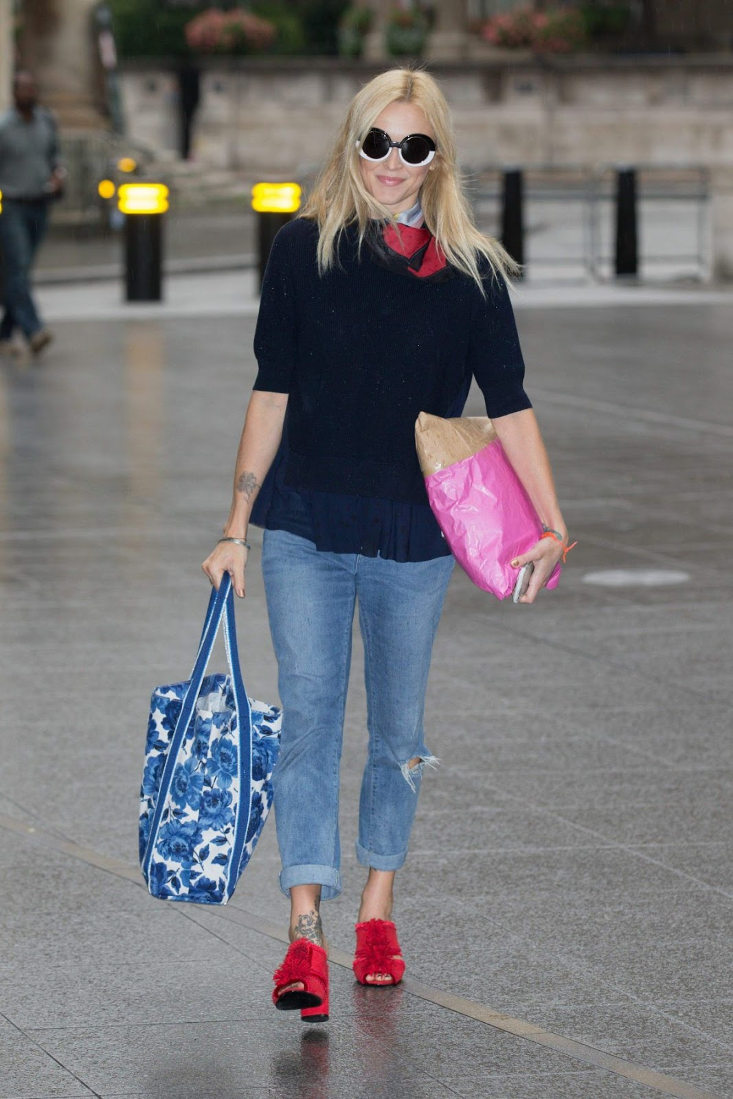 Fearne Cotton Arrives At BBC Radio 2 Studios In London