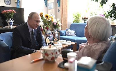 Vladimir Putin with Lyudmila Alexeyeva.