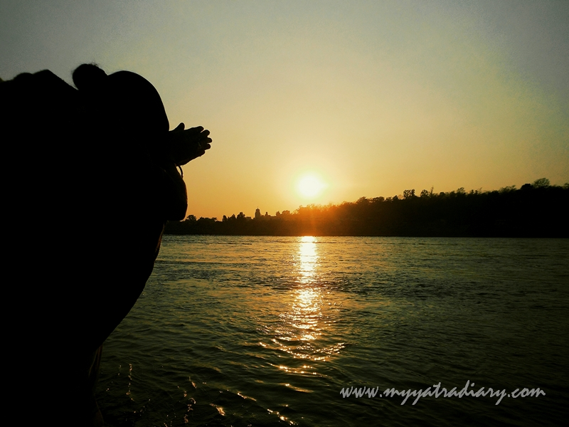 Mother Ganga suring sunset Arti, Parmarth Niketan Ashram Rishikesh
