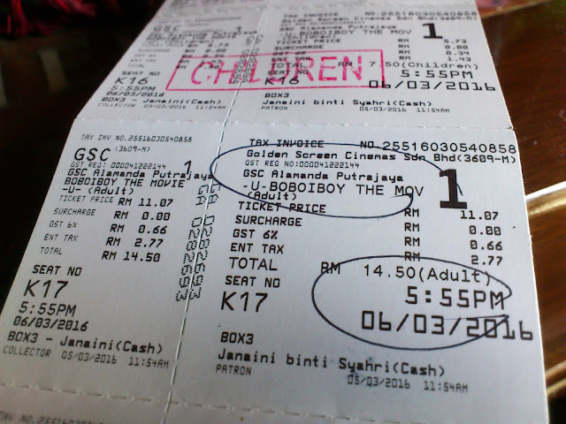 Tiket Boboiboy The Movie di GSC