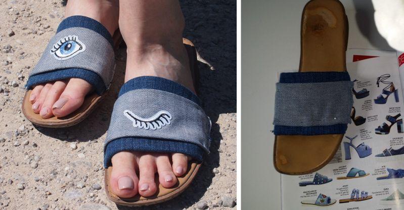 DIY Flats mit Jeans und Patches